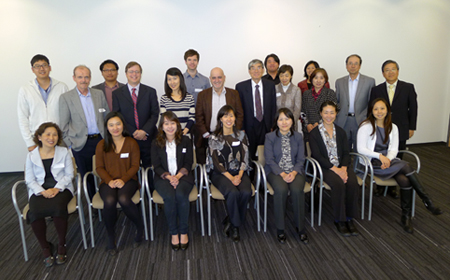 Group photo of participants at the Outward and Upward Mobilities: Families from South Korea in a Transnational Era workshop, September 2013
