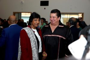 Navi Pillay and Chief R. Stacey LaForme of the Mississaugas of the New Credit First Nation